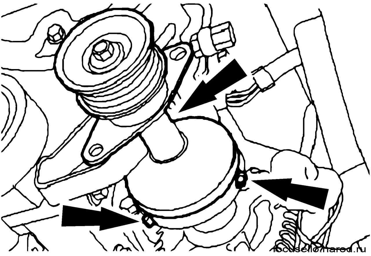 Ролик натяжения ремня генератора форд фокус 2 19 фотография